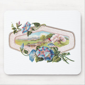 Morning Glories and a Home in the Country Mouse Pad