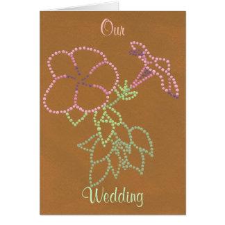 Morning Glories Custom Wedding Invitations Flowers Greeting Card