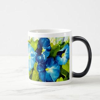 Morning Glories in Blue Temperature Changing Mug