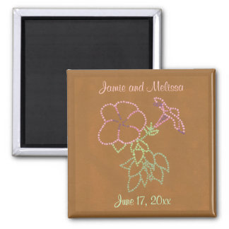 Morning Glories Save the date Wedding Magnets