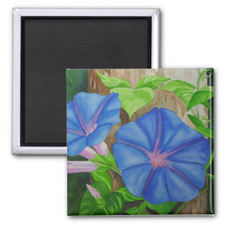 Morning Glories Square Magnet