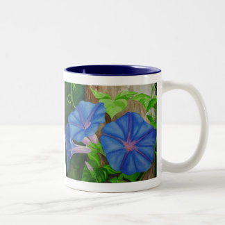 Morning Glories Two-Tone Mug