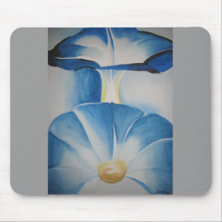 Morning Glories Watercolor Mouse Pad