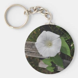 Morning Glory Basic Round Button Key Ring