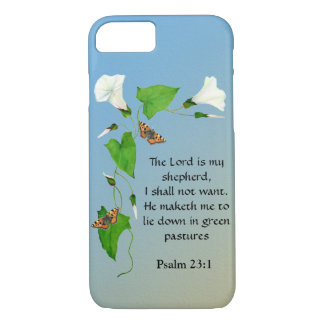 Morning Glory Butterfies The Lord is my Shepherd iPhone 8/7 Case