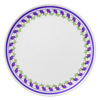 Morning Glory Circle - Floral Photography Cut Out Plate