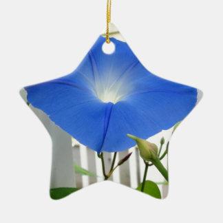 Morning Glory Flower Christmas Ornament