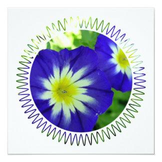 "Morning Glory Flower invitations' 5.25"" Square Invitation Card"