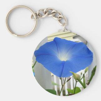 Morning Glory Flower Key Chain
