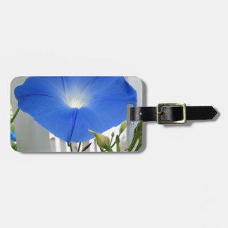 Morning Glory Flower Travel Bag Tag