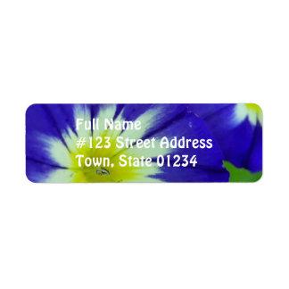 Morning Glory Flower Mailing Label Return Address Label