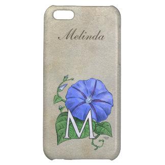 Morning Glory Flower Monogram Case For iPhone 5C