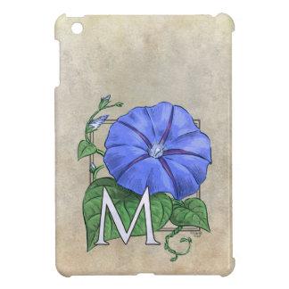 Morning Glory Flower Monogram Case For The iPad Mini