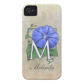 Morning Glory Flower Monogram iPhone 4 Cases