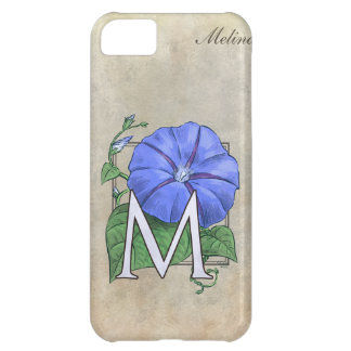Morning Glory Flower Monogram iPhone 5C Case