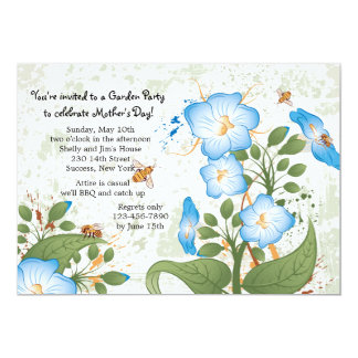 """Morning Glory Flower Mother's Day Invitation 5"""" X 7"""" Invitation Card"""