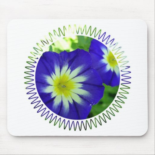 Morning Glory Flower Mouse Pad