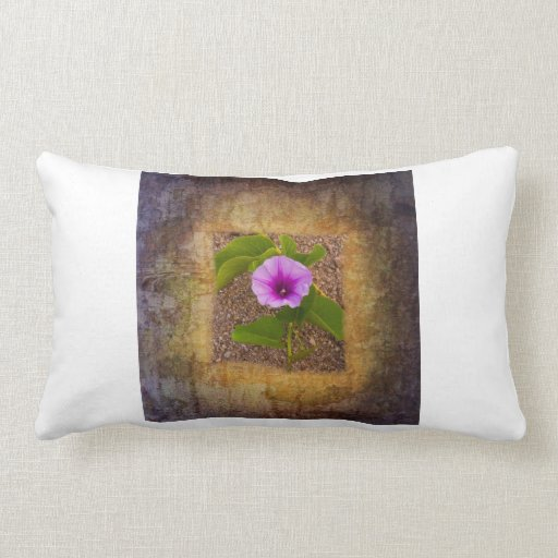 Morning glory flower on a textured background throw pillow