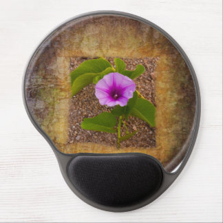 Morning glory flower on textured background gel mouse pad