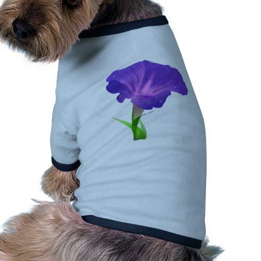 Morning Glory Flower Purple Pet T Shirt