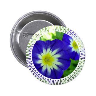 Morning Glory Flower Round Pin