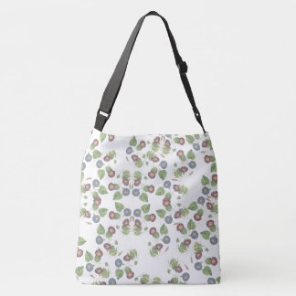 Morning Glory Flowers Floral Shoulder Tote Bag