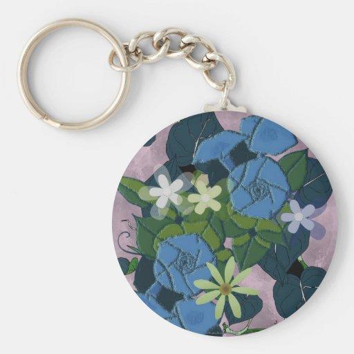 Morning glory flowers keychains