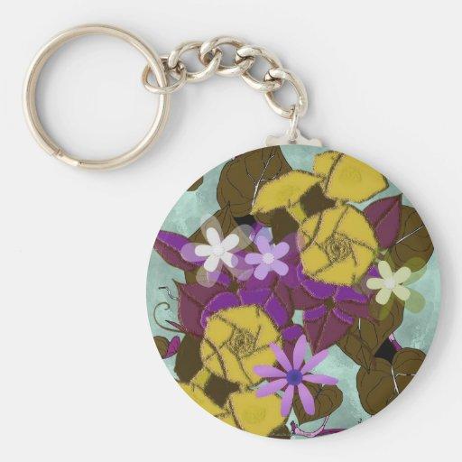 Morning glory flowers keychain