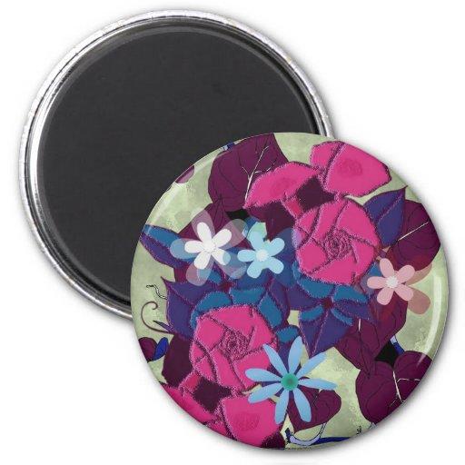 Morning glory flowers magnet