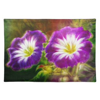 Morning Glory flowers placemats