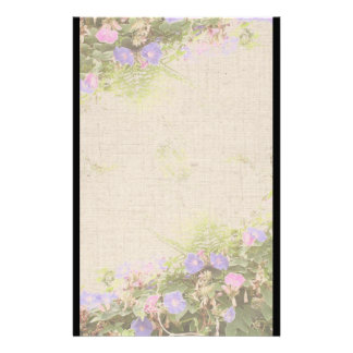 Morning Glory Flowers Stationery