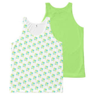 Morning Glory Garden Tank Top w/ Green Back