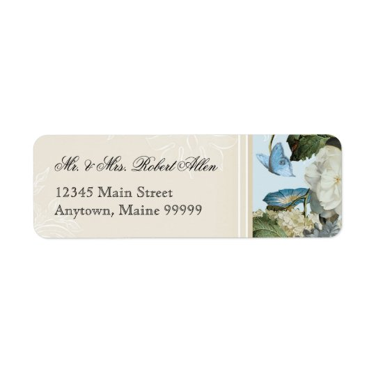 Morning Glory Hydrangea - Return Address Labels