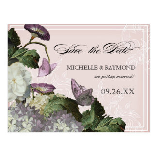 Morning Glory Hydrangea -  Save the Date Postcard