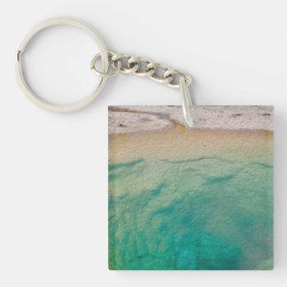 Morning Glory Pool Single-Sided Square Acrylic Key Ring