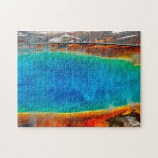 Morning Glory Pool Yellowstone. Jigsaw Puzzle
