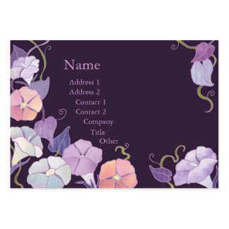 Morning Glory Purple Florists Business Cards Chubby Business Cards