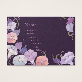 Morning Glory Purple Florists Business Cards