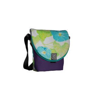 Morning Glory (Purple/Turquoise) Messenger Bags