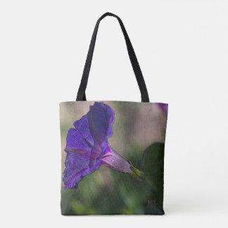 Morning Glory Purse Tote Bag - Flower Fashion Bag