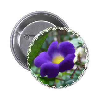Morning Glory Round Button