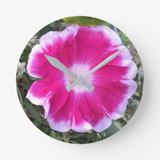 Morning Glory Round Clock