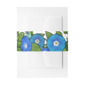 Morning Glory Scroll Invitation Belly Band