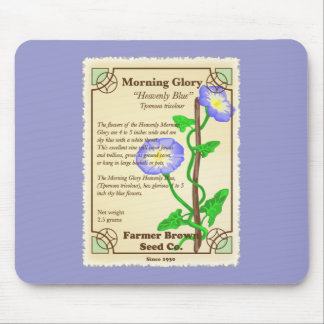 Morning Glory Seed Packet Mouse Pad