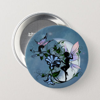 Morning Glory Shadow Fairy and Cosmic Cat 7.5 Cm Round Badge