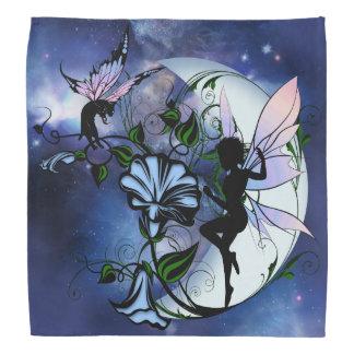 Morning Glory Shadow Fairy and Cosmic Cat Bandana