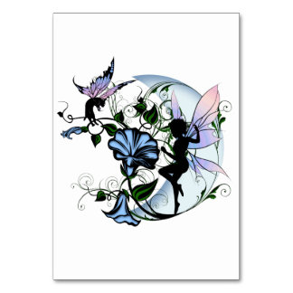 Morning Glory Shadow Fairy and Cosmic Cat Card