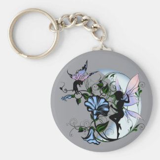 Morning Glory Shadow Fairy and Cosmic Cat Key Ring