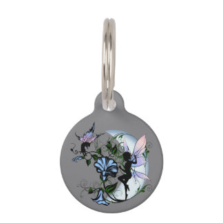 Morning Glory Shadow Fairy and Cosmic Cat Pet Name Tag
