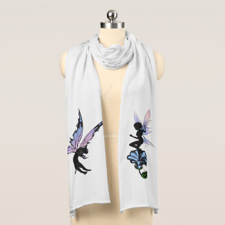 Morning Glory Shadow Fairy and Cosmic Cat Scarf